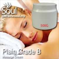 Massage Cream Plain Grade B - 500g