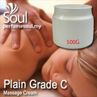 Massage Cream Plain Grade C - 500g